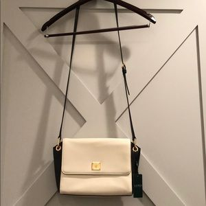Ralph Lauren white and Black Messenger Bag